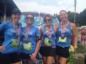 halfy #1- trail half with my girls!